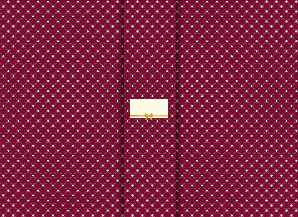 soschoenanders Geschenkverpackung redkaro rotes Karo mit Schriftfeld in der Mitte