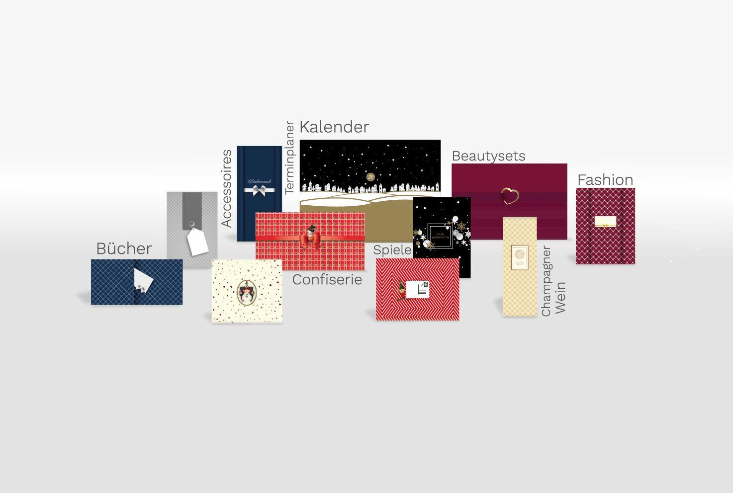soschoenanders verschiedene Geschenkverpackungen für verschiedene Produkte in einer Collage